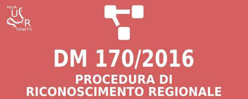 DM 170-2016 procedura di riconoscimento regionale